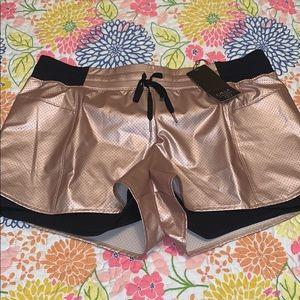 NWT CALIA XL ROSE GOLD SHORTS